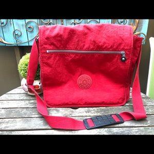 Kipling madhouse red messenger crossbody bag